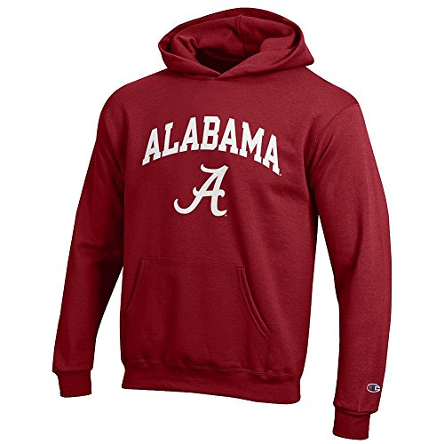 Elite Fan Shop Alabama Crimson Tide Kids Hoodie Sweatshirt Arch Crimson - S