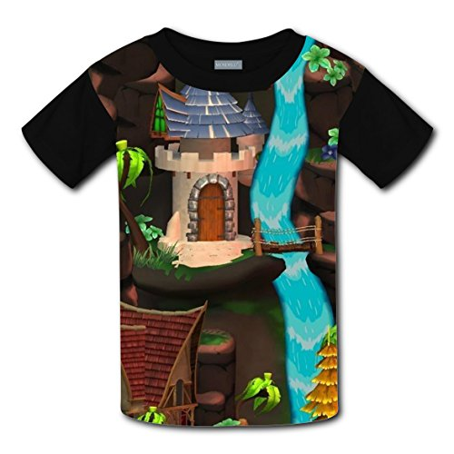 Short Sleeve New Love T-Shirts 3D Design With Cartoon Home For Unisex Kids - In Centers City Oklahoma Shopping