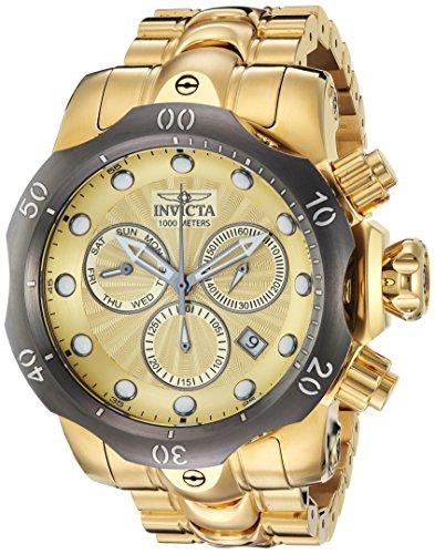 Invicta Men s Venom Quartz Watch with Stainless-Steel Strap, Gold, 26 Model 23894