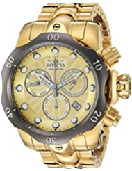 Invicta Mens Venom Quartz Stainless Steel Casual Watch, Color:Gold-Toned (Model: 23894)