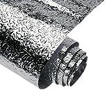 Yizunnu Kitchen Backsplash Sticker,Aluminum Foil Orange Peel Texture Wall Paper Waterproof Removable High Temperature Resistant DIY Wallpaper Kitchen Wall Stickers,24x40 Inch
