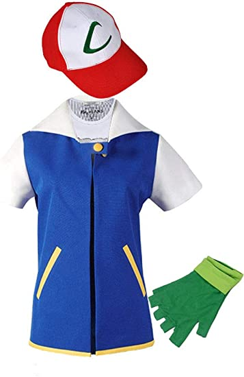 WOTOGOLD Anime Trainer Costume Hoodie Cosplay Jacket Gloves Hat Sets