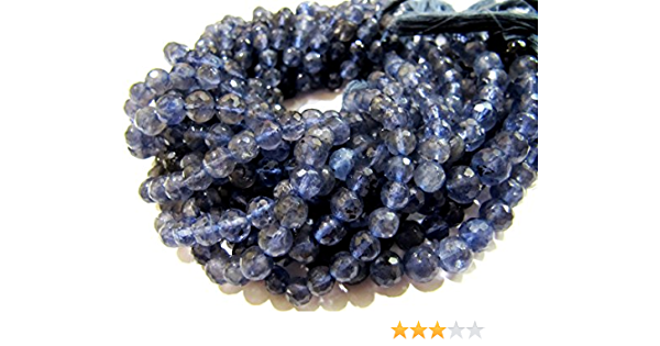 Micro Faceted 2 TO 2.5 MM 1 Stand 13.5 Inches Natural Iolite Beads Micro Faceted Rondelles BEADS