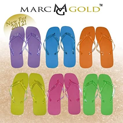 551952083ee02 Amazon.com  (144 Pieces Per Case) Marc Gold - Wedding Flip Flops for Guests  (Beach Pool Party) - Wholesale Bulk Flip Flops Lot for Weddings Party  ...