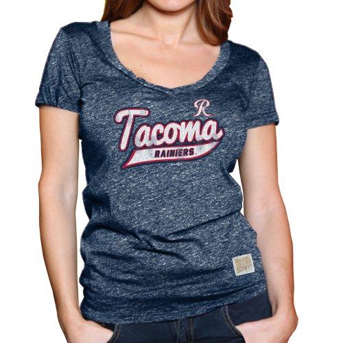 Minor League Baseball Tacoma Rainiers Women's T-Shirt, Large, Heather - Tacoma Women
