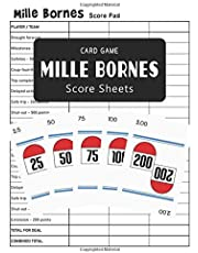 Mile Bornes Score Sheets Card Game: Mille Bornes Board Game Score Pads - 100 Pages - Large 8.5 x 11 inches