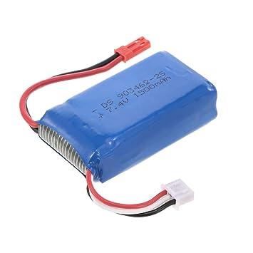 Goolsky Batería de 7.4V 1500mAh Lipo para Dongmingtuo X8 WiFi FPV ...