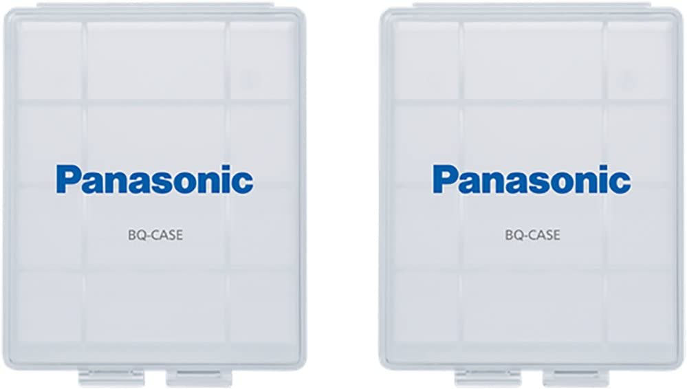 Panasonic BQ-CASE6SA Battery Storage Cases with 4AA or 5AAA Battery Capacity 6 Pack