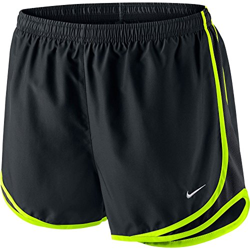 Nike Damen Tempo Shorts schwarz/grau (BLACK/BLACK/VOLT/WOLF GREY)