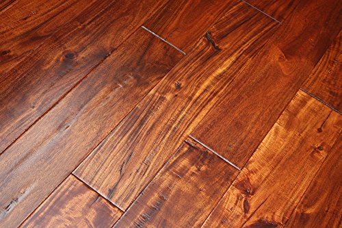 Cheap  Elk Mountain Acacia Sundown 9/16 x 4-3/4 Hand Scraped Engineered Hardwood Flooring..