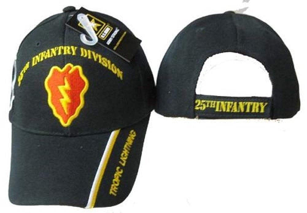 e357bd4393c U.S. Army 25th Infantry Division DIv Black Embroidered Cap Hat Licensed