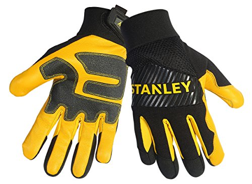 Stanley S77871 Grain Goatskin Palm with PVC Reinforcements and an Air Mesh Breathable Back, Large