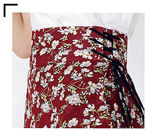 t Longue Jupe Cent Poisson Mousseline Feuille en Section Queue S Rouge Lotus Longue C de Mode Jupe de Irrgulire Noir Florale Noir OMUUTR PndwqS4ZP