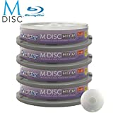 40 Pack Smartbuy M-Disc BD-R 25GB 4X HD 1000 Year Permanent Data Archival / Backup Blank Media Recordable Disc