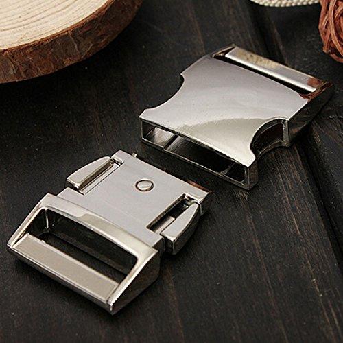 25mm in acciaio sagomato rilascio laterale curvo fibbie metalliche per cintura borsa DIY scatolina in paracord bracciale accessori 4modelli opzionale BONYTAIN
