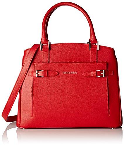 Trussardi 76b32253, Borsa Tote Donna, 30x25x14 cm (W x H x L) rosso