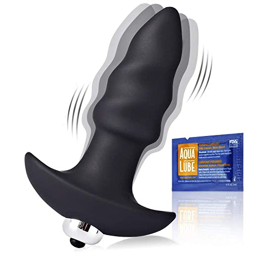 Vibrating Butt Plug - Anal Sex Toys Dildo Soft Liquid Silicone