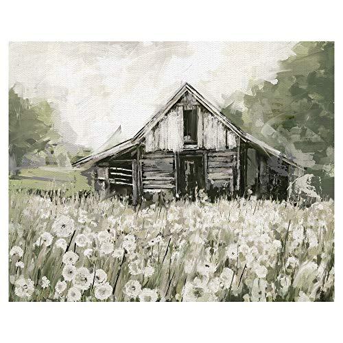 Masterpiece Art Gallery Dandelion Barn by Studio Arts Wrapped Canvas Art 22x28