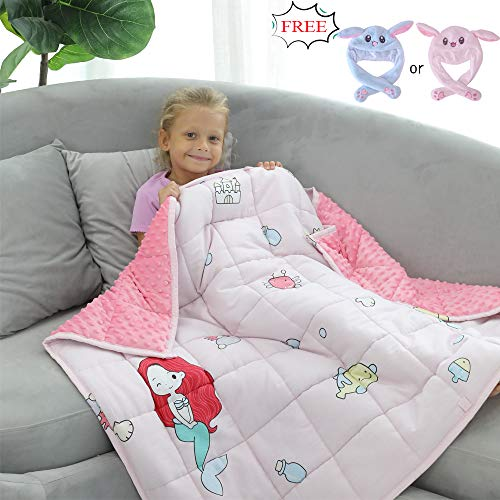 Cheap JHMENG Weighted Blanket for Kids(7lbs for 60-90 lbs) 2.0 Heavy Blanket Soft Minky/Cotton with Nontoxic Glass Beads Black Friday & Cyber Monday 2019