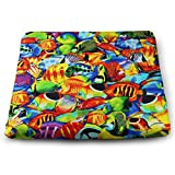 Mars Sight Colorful Fish Pattern Seat Cushions Non Slip Seat Cushion for Kitchen Dinning Chair for Car Seat Cushion Or Wheelchair Cushion