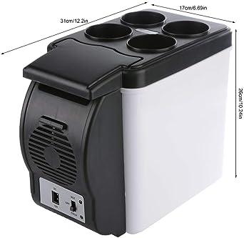 6L 12V Scaldino da viaggio//scaldino Mini frigorifero portatile per dormitorio casa camion auto Scaldino compatto per auto mini frigoriferi