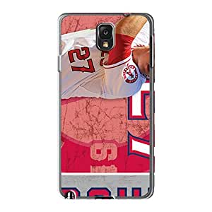 Anti-Scratch Hard Phone Cover For Samsung Galaxy Note 3 With Custom Attractive Los Angeles Angels Pattern EricHowe