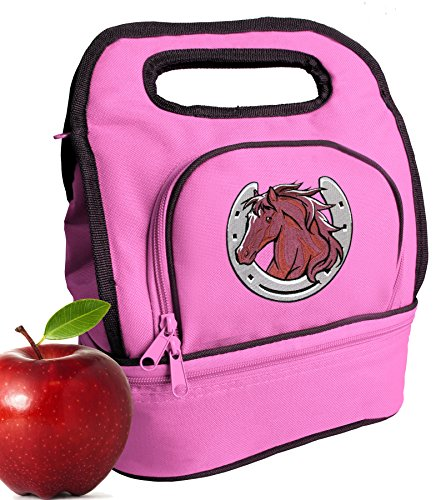 Horses Lunch Bag Cute Horse Theme Lunch Tote for Girls & ()
