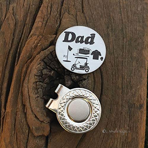Dad Golf Ball Dad Gift Idea Marker- Gift For Dad Golf Disc For Dad Golfing Gift Idea Golf Ball Marker Dad Birthday Gift for Dad on Christmas Father