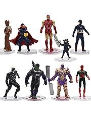 Avengers minifiguurset, Hilloly Avengers beeldjes, Avengers taartdecoratie, kan worden gebruikt voor Kerstmis, verjaardagscadeau en thuis, auto, decoratie, geschikt voor meer dan 3 jaar oud