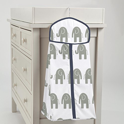 Carousel Designs Navy and Gray Elephants Diaper Stacker by Carousel Designs