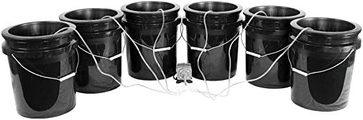 HTG Supply Bubble Brothers DWC Hydroponic System – 6-Site XL