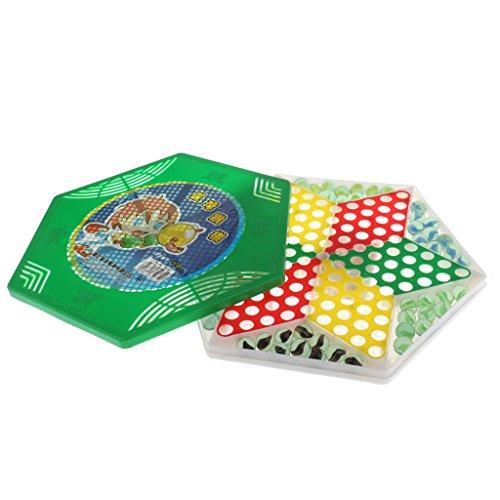 Baosity 中国チェッカー 玩具 ビンテージ 大理石 チェスピース キッズ 子供 ギフトの商品画像