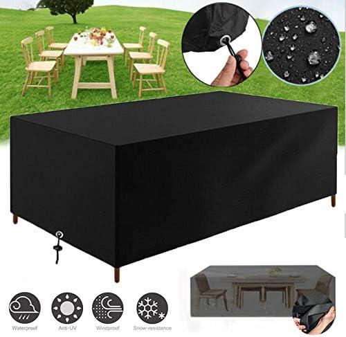 Fundas Muebles Jardín, Impermeable Cubierta de Exterior Funda Patio Protectora Muebles 210D Oxford Resistente al Polvo Anti-UV para Sofa de Jardin, al Aire Libre, Mesa y Sillas (200x160x70cm): Amazon.es: Jardín