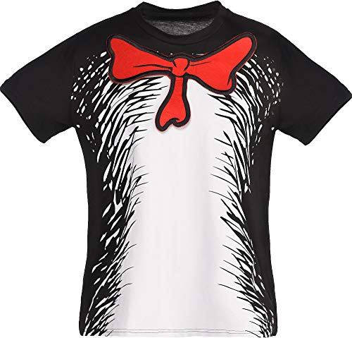 Costumes USA Dr. Seuss Cat in the Hat T-Shirt for Kids, Halloween Costume Accessories, Extra Small/Small ()