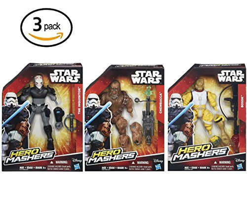Chewbacca,The Inquisitor and Bossk Star Wars Hero Mashers 3 Figures