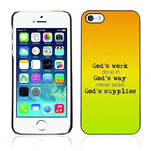 DREAMCASE Citation de Bible Coque de Protection Image Rigide Etui solide Housse T¨¦l¨¦phone Case Pour APPLE IPHONE 5 / 5S - GOD'S WORK