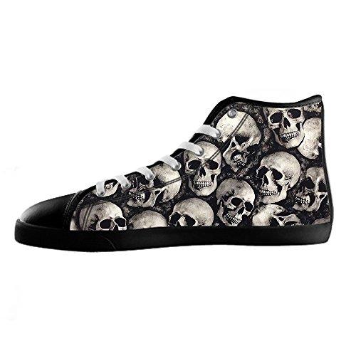 Chaussures De Toile De Skull Womens De Coutume Les Chaussures De Lacets Chaussures Baskets Montantes