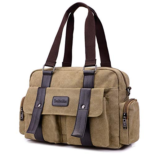 Womens Satchel women Rucksack Book Bag tote tote Canvas Travel bags oversized Khaki Shoulder for School women Backpack for bags rqrf8