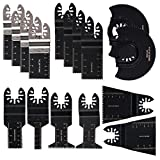 HIFROM Mix Wood/Metal Oscillating Saw Blades, Quick Release Oscillating Multi tool Blades Set Fits Fein Multimaster, Black & Decker, Bosch Craftsman