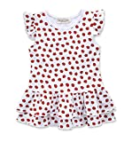 Pinleck Toddler Baby Girls Ruffle Ladybug Dress Summer Sleeveless Shirt Blouse Tops