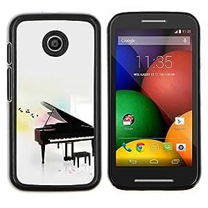LECELL--Funda protectora / Cubierta / Piel For Motorola Moto E -- Piano --