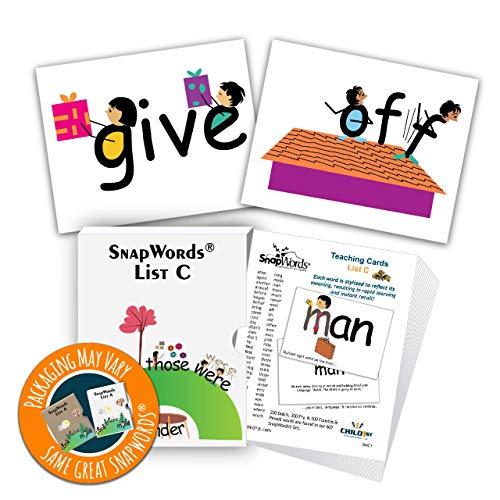 (SnapWords List C Teaching Cards - Sight Words)