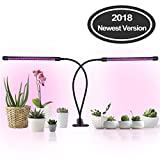 Omicoo Plant Grow Light 40LED 20W LED 3Mode Dual Head 5 Dimmable Levels 360 Degree Flexible Spectrunm for Indoor Plants Hydroponics Greenhouse Gardening
