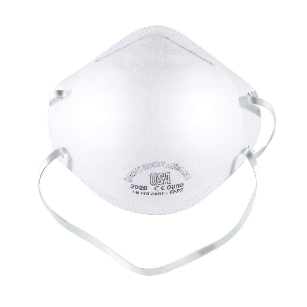 Mascarilla de protección respiratoria FFP2, protección respiratoria, máscara de protección respiratoria para la profilaxis de Las infecciones por Manchas y Gotas, Blanco