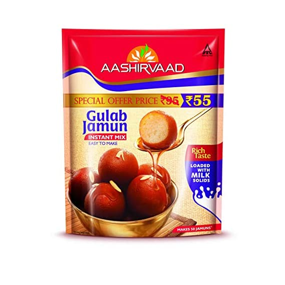 Aashirvaad Instant Mix, Gulab Jamun, 200g Pouch