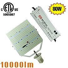 180 Degree 80W LED Retrofit Kit Replace 250Watt Metal Halide/HPS Shoebox Area Light 6000K Daylight E39 Mogul Base Flood Pole Parking Lot Lights