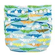 Bumkins Cloth Diaper Snap All-In-One (AIO) or Pocket, 7-28lbs, Crocs