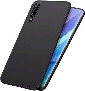LAYJOY Funda Huawei P30 2019, Silicona Negro Suave Carcasa Ligera ...