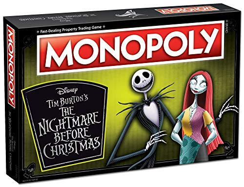 Monopoly Disney Nightmare Before Christmas (2019 Ed.) Board Game | Collectible Monopoly Tim Burton Nightmare Before Christmas Movie | Collectible Monopoly Tokens (Christmas Disney The Nightmare Before)