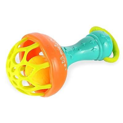 Isuper Sonajero Bebé,Juquete de Pelota,Forma de Maraca mulricolor de Silicona Segura Juquete Infantil para niños(Pequeño): Juguetes y juegos